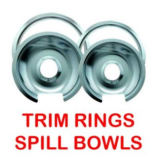 Stove Trim Rings & Spill Bowls